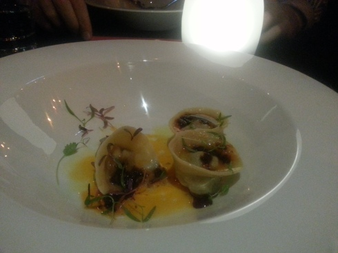 Pork and prawn tortellini - doesn't it look beautiful?