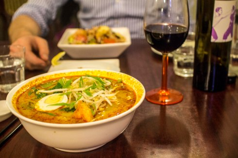 Chicken curry laksa ($16.50)